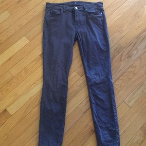 7 for all mankind grey jeans size 29